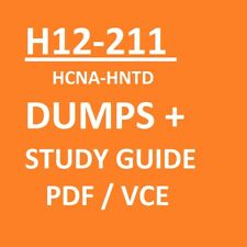 GUIDE BOOK + DUMPS 820 Qs with (PDF LABs + Training) H12-211 HCNA-HNTD VCE PDF