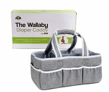 Wallaby Diaper Caddy Organizer Portable Storage Bin for Diapers, Wipes and more