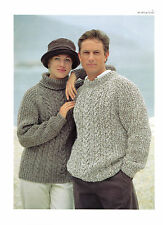 57df942369 Womens Mens Chunky Sweaters Knitting Pattern 99p