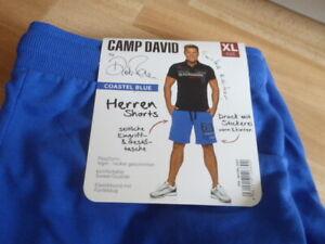 Camp David - Herren Shorts - Dieter Bohlen - Sweatshorts Größe XL coastel blue