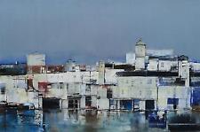 20th century modern cityscape painting,