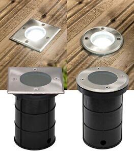 LED Bodeneinbaustrahler IP67 Edelstahl GU10 230Volt Bodenstrahler Außenleuchte