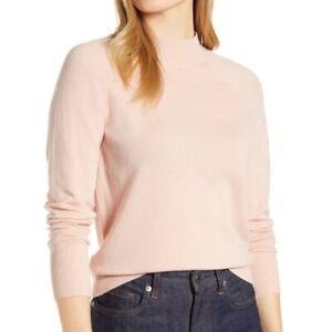 NEW Everlane The Cashmere Raglan Mockneck Sweater in pink- Size S