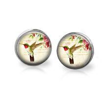 Hummingbird  Earrings, bird earrings, Hummingbird post earrings, wearable art
