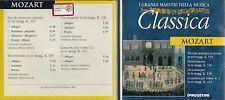 CD - 1B2  DE AGOSTINI I GRANDI MAESTRI DELLA MUSICA  CLASSICA  - MOZART  ( 500 )