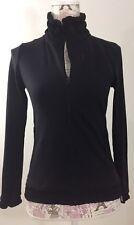 prAna Womens Athletic Jacket Size XS Black Yoga Workout Jacket