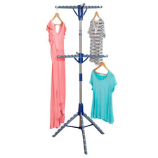 Clothes Drying Rack Portable Tripod Foldable Steel Frame Indoor Outdoor Travel