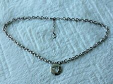GUESS ladies silver choker chain necklace