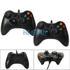 2 New Wired Xbox 360 USB Remote Game Controller for PC Windows Computer Black UK