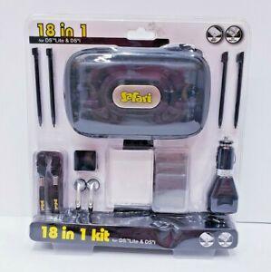 Safari 18 in 1 Essentials Starter Kit Case Stylus for Nintendo DS Lite & DS i