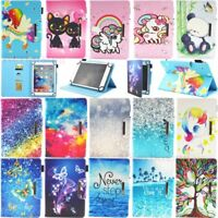 "For 7'' 8'' 9.7"" 10.1"" Android Tablet Folio Stand Leather Case Cover Universal"