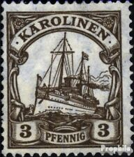 Carolines (Duits.Colony) 21 met gomstrook 1919 Schip Imperial Yacht Hohenzollern