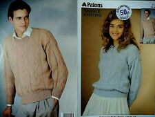 Patons DK KNITTING PATTERN, Men, Women SWEATER