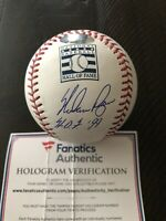 Nolan Ryan Signed HOF Logo Baseball