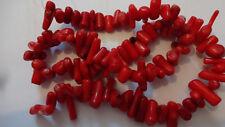 "Royal Coral rojo cilindro de formato libre palo Nuggest granos 16.5"" Strand 8 Mm - 18 mm"