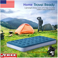 Twin Inflatable Car Mattress Air Bed Airbed Ac/Dc w/ Electric Pump Home Outdoor