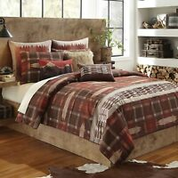 New Croscill Wagner Duvet Cover Paprika Red Brown Full / Queen