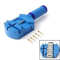 Watch Band Link Remover Wrist Bracelet Strap Adjuster + 5 Pins Repair Tool Set