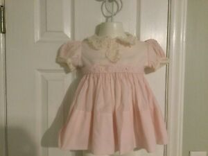 Vintage Pink Baby Special Occasion Dress size 24 Month C.I.Castro & Co.