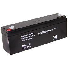 Blei-Gel Akku Multipower MP4-12D Bleiakku AGM Vlies 12V 4Ah Accu Batterie MP412D
