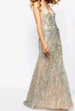 A Star Is Born Luxe Embellished Maxi Dress With Red Carpet Train Size 12 rrp£300