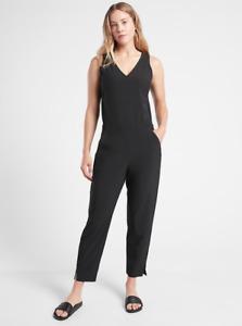 ATHLETA Brooklyn Jumpsuit Romper 8 (M MEDIUM) Black   Travel Pants City NWT