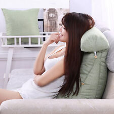 Adjustable Back Wedge Cushion Pillow Sofa Bed Office Chair Rest Neck Support UK