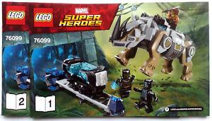 Lego® Bauanleitung für Super Heroes Rhino Face-Off by the Mine 76099 Neu