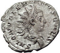 SALONINUS son of GALLIENUS 258AD Cologne Ancient Silver Roman Coin SPES i65332