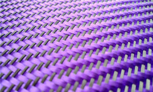 3K Black Carbon Fiber And Purple Aramid Blended Fabric Carbon Cloth Twill Weave