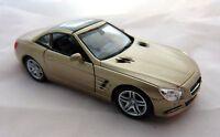 Welly Mercedes Benz SL 500 Cabriolet geschlossen in bronzemet ca. 12 cm lang