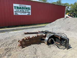 2011 Bobcat LT313 Hydraulic Trencher Attachment w/ Rock Teeth For Skid Steer!