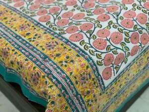 Natural Cotton Hand Block Print Duvet Cover Twin Queen Double King Custom Duvet