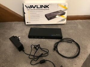 Wavlink Universal USB C Docking Station Dual Ultra 5K 4K Dual Video HDMI RJ45