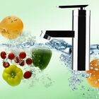 Brushed Chrome Waterfall Bathroom Basin Faucet Single Handle Sink Mixer Tap WW