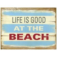 TIN SIGN  Beach Life House Cottage Kitchen Store Rustic Beach Metal Decor
