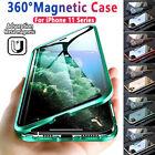 360 Grad Magnet Hülle iPhone 12/11/Pro/Max/X Full Cover Handy Case Schutz Tasche <br/> iPhone X XS Max XR SE 2020 7 8 Plus DoppeltGlas Hülle