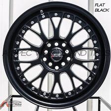 XXR 521 17X7 4x100/114.3mm +38 Black Wheels Fits 4 Lug Civic Jetta Miata Xb Ek