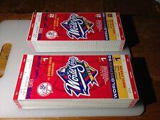1998 World Series Unused Ticket Game 1 Game 2 New York Yankees
