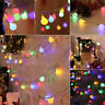 50 LED Pelota Cadena de luces Navidad Jardín Decoracion Impermeable Batería/USB