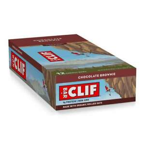 68 CLIF CHOCOLATE BROWNIE   HEALTH  /  NUTRITION BARS NO RESERVE ORGANIC