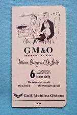 Gulf, Mobile & Ohio Railroad - Time Table - 1970