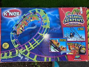 K'nex Screamin' Serpent Motorized Roller Coaster Motor & Sound Works Knex. 63153
