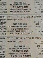 3 Official Grateful Dead Fare Thee Well Tour July3,4,& 5 2015 Celebrating 50yrs