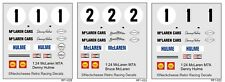 1:24 Decals for McLaren M7A - SEE TEXT 3 versions