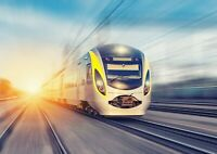 Amazing Fast Bullet Train Poster Print Size A4 / A3 Travel Poster Gift #8419