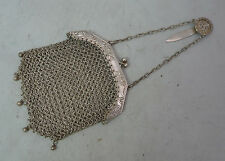 Chinese Silver Mesh Purse With Character Marks 69g A602017