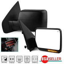 Side Mirrors for 04-06 Ford F150 F-150 Power Heated LED Turn Signals Manual Fold