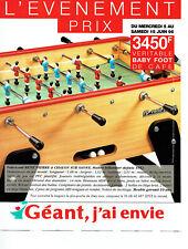 Publicité Advertising 028  1996   René Pierre  baby foot de café  Géant Casino