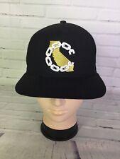 Crooks & Castles New Era California Republic Black Snapback Cap Hat Club OSFM